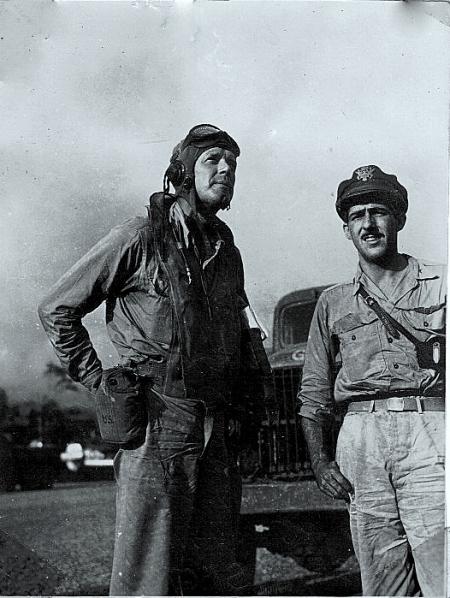 Col. Charles Lindbergh & Maj. Tomas McGuire - 1943 - New Guinea