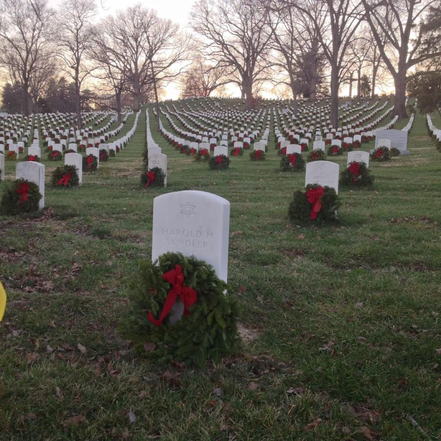 Harold Sandler's final resting place at Arlington National Cemetery. Photo courtesy of Betty Lou Rocklein