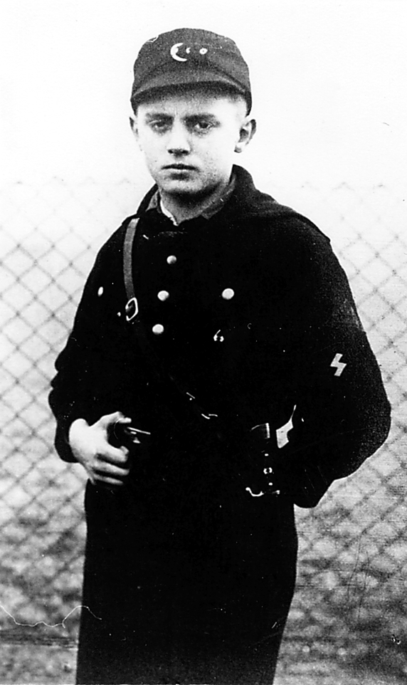 Granche captured this 14 year old German soldier was captured by Granche a few days after landing in Normandy in 1944.