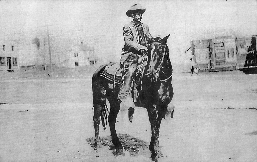 After returning from WW I, Roy Harrell, Willam's father, served as a Texas Ranger for a short time in 1920. He is pictured as a Ranger astride his horse near his home in Mercedes, Texas.
