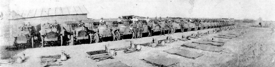 Gary's grandfather joined the U.S. Border Patrol about 1920. Here his grandad's unit and their trucks are being inspected. Photo provided