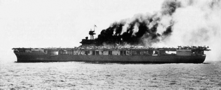 He photographed sinking of carrier Yorktown | War Tales