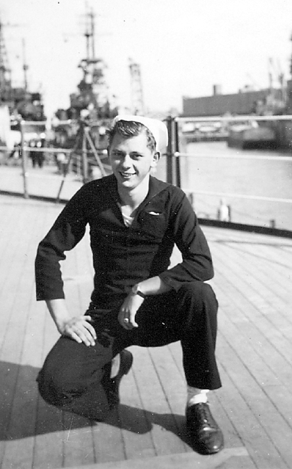 This was Ed Kalanta aboard the Missouri at 19 years old in 1944 during the middle of World War II. Photo provided by Ed Kalanta