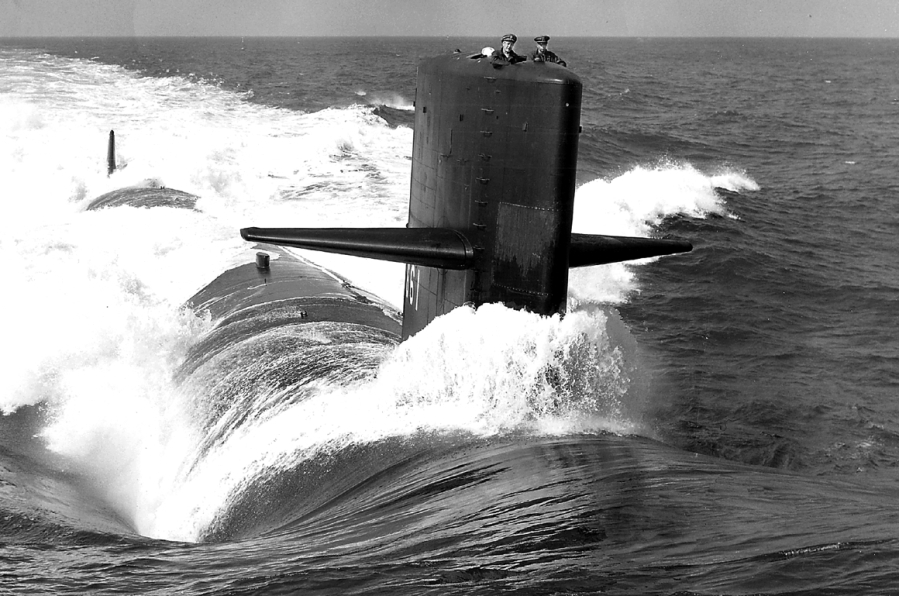 The USS Lapon was an attack submarine skippered by Capt. Whitey Mack of Cape Haze, Fla. in the early 1960's. She was the only sub in the US Navy equipped with a one-arm bandi next to the Coke machine. Its claim to fame was that Mack and his crew shadowed a new Yankee-Class Russian submarine underwater for 47 days to eavesdrop on its capabilities. Photo provided by Whitey Mack.