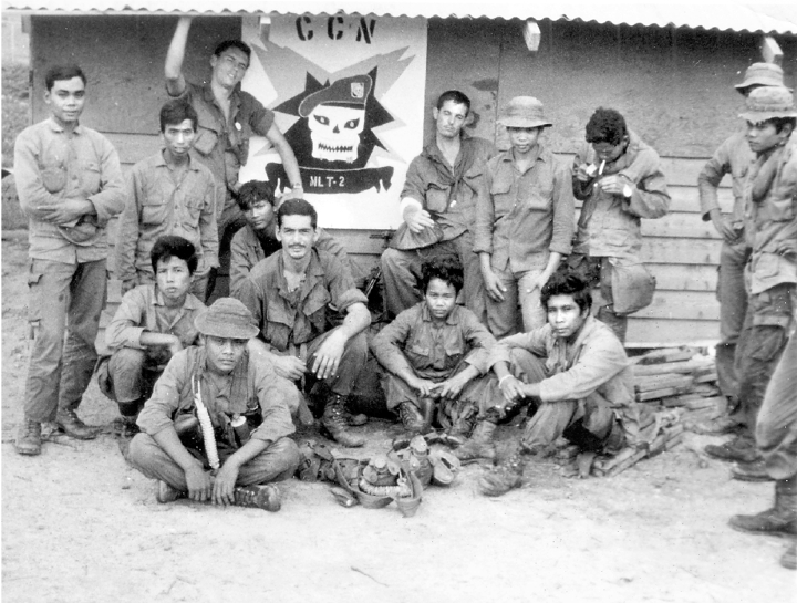 Mark bills took this picture of one of his montagnard recon teams with