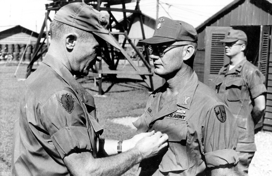 Maj. Robert Black received the Silver Star for valor in 1968 during the Vietnam War. It is this nation's third highest award for heroism under fire. He first served in the Korean War as a member of the 8th Airborne Ranger company and in Vietnam as a military advisor in Long An Province. Photo provided.