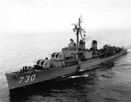 USS Collett, DD-730, first American ship in Tokyo Bay day