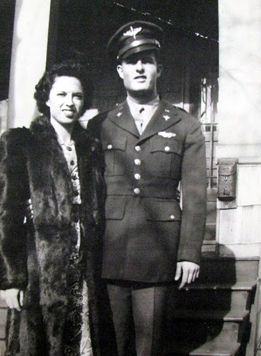"Mary and Victor, a couple of young married people, are pictured in this 1943 photo. It was before he shipped overseas as a bombardier aboard a B-24 ""Liberator"" bomber flying with the 15th Air Force out of Italy. Photo provided"