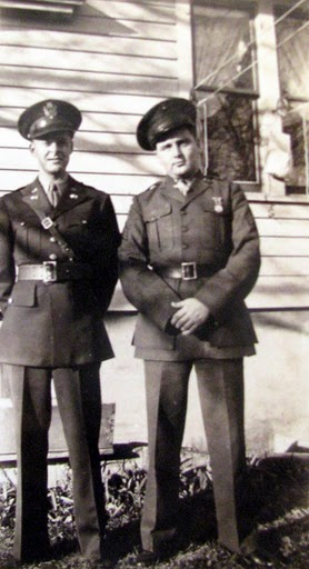 "Kil Kilcauley (left) and a buddy are a couple of ""Ninety-Day Wonders"" in their 2nd lieutenants' uniforms during World War II. Photo provided"