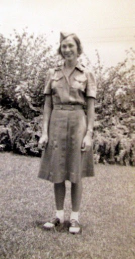 Lois Kilcauley is pictured in her Women's Air Raid Defense Corps uniform she wore  during World War II when she worked in the Army's communications headquarters in Honolulu. Photo provided