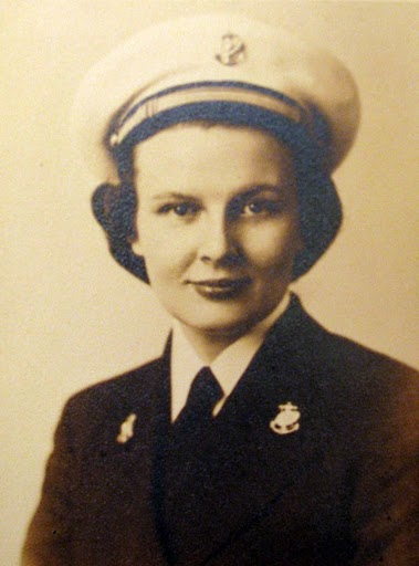 ... Navy uniform. She served as a Navy nurse in World War II. Photo