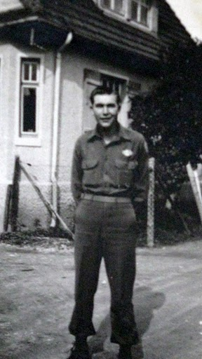 Pfc. Pete Self is pictured in Kitzbuhl, Germany after World War II. The former 36th Infantry Division soldier was part of the occupation forces after the war. Photo provided