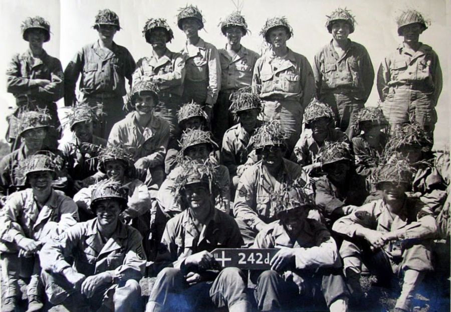 These were the soldiers in Elmer Watson's 42nd Medical Detachment attached to Gen. Alexander Patch's 7th Army in Europe during World War II. He is the oldest soldier in the picture at 27 shown at the bottom far right sitting. At 96 Watson is the only man in the picture that is still alive.  Photo provided