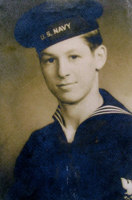 This was Seaman Bernie Strapp of North Port when he was 17-year-old sailor serving in the Navy during World War II. Photo provided