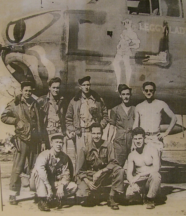 "This is the crew of ""Leggy Lady"", a B-25H that Brown flew out of a base in Finny, India during the Second World War. He is pictured standing second from left. Photo provided"