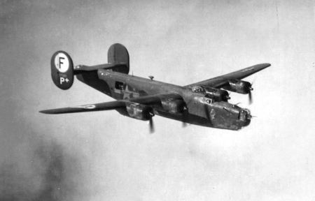This was like 2nd Lt. Carl Citron of North Port's B-24 bomber that attacked the German sub base along the coast of France. Photo provided