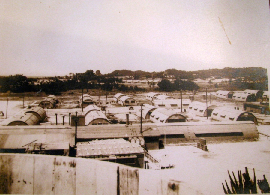 This cluster of Quonset huts was part of Kadena Air Force Base on Okinawa that was home sweet home for Werner and the 10th Photo Tech Unit. They only left the base once in almost two years to fly with his commander on a week-end pass to Mania. Photo provided