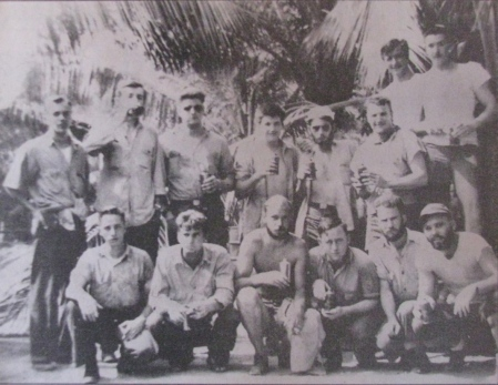 """Bull"" Durham said he thinks he might have taken this picture of his buddies aboard the Crevelle. They were given a couple of warm beers and let loose on Guam to party. Photo provided by ""Bull"" Durham"