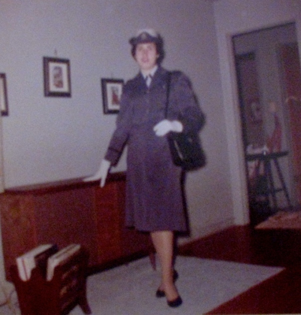 Jean Carr of Burnt Store Isles, south of Punta Gorda, is pictured in the 1960s in her Air Force nurse dress uniform, complete with white gloves during the Cuban Missile Crisis. Photo provided by Jean Carr