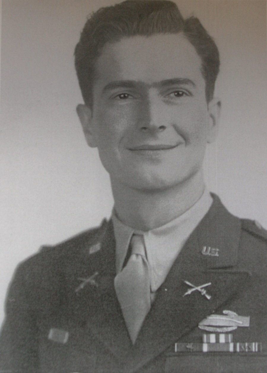 1st Lt. William Standish is pictured after WWII wearing his Combat Infantryman's Badge and his ribbons indicating he fought in four major campaigns and received the Silver and Bronze Star medals. Photo provided