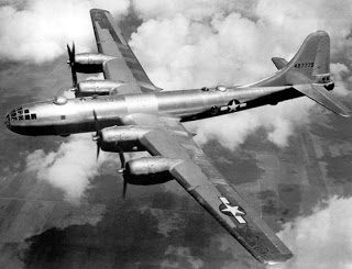 B-29s similar to the one above was used primarily by the US Air Force to burn most of the Japanese cities to the ground during World War II. Photo provided