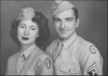 Don and Jan Smally are pictured in their Army uniforms shortly after they got married in the World War II era.  Photo provided