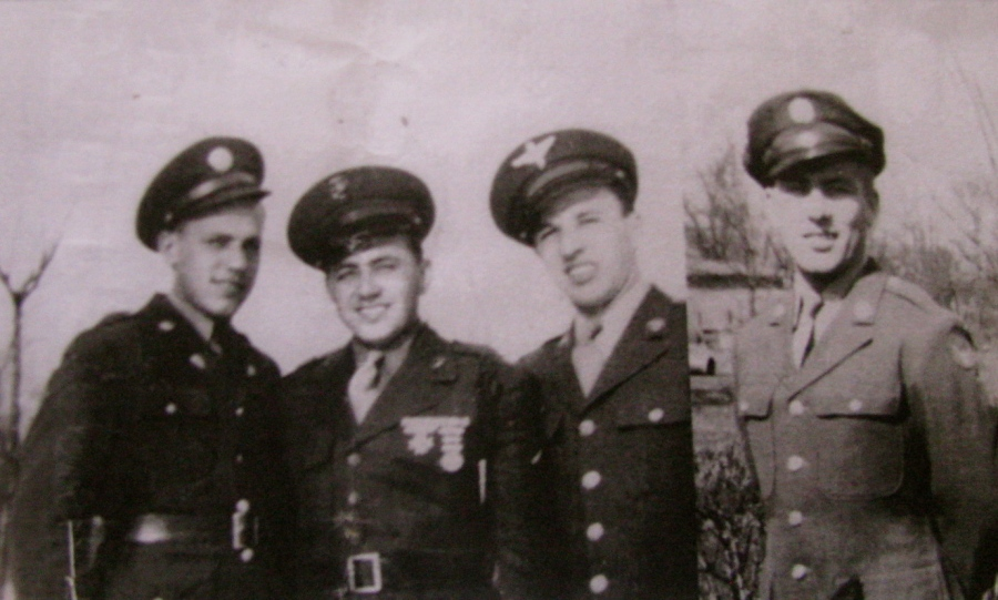 "Ed and all three of his brothers served in the war. From left, Chet served in Patton's 3rd Army, Hank was a Marine who erved in the Aleutians, Ed was a co-pilot in a B-25, and Vin was a crew chief on a B-29 ""Superfortress"" who flew missions over Japan at the end of the war. Photo provided"