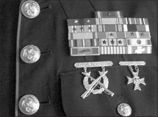 During his three decades in the Corps, O'Brien received a Bronze Star with V for Valor, a Presidential Unit Citation for bravery, 10 battle stars for campaigns he participated in and 16 ribbons. Sun photo by Don Moore