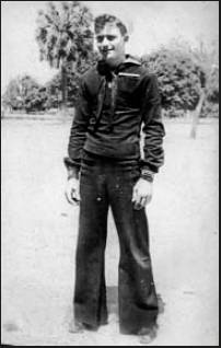 This was Wilbur Kinney at 17 when he went aboard the carrier Yorktown at Portsmouth, Va., right out of boot camp in 1942. Photo provided