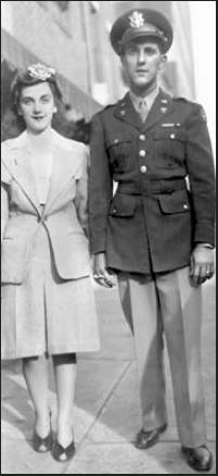 Shortly after graduating from OCS, Art Faloris is pictured with his wife, Eva, now deceased. Photo provided