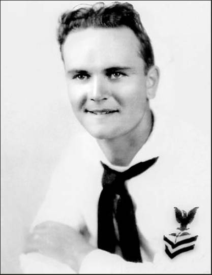 This was Seaman Friel late in the war after his ship had been torpedoed and he was serving as an aviation mechanic in Fort Lauderdale, Fla. Photo provided