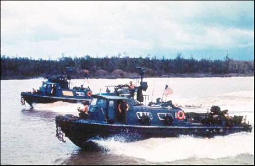 These 50-foot, propulsion-driven, heavily armed swift boats were used in the deltas and rivers of Vietnam. Richard Cook spent quite a bit of time on these swift boats.  Photo provided