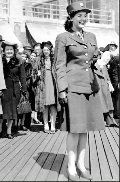 "One Easter Sunday, Winifred Leiser was singled out as the ""Best Dressed Woman in Uniform"" and presented with an orchid while walking on the boardwalk in Atlantic City, N.J."