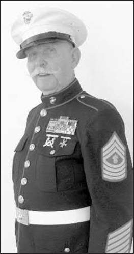 O'Brien was photographed in his Marine Corps full dress uniform at a recent funeral he attended in Port Charlotte, Fla. Sun photo by Don Moore
