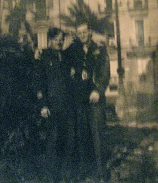 Pfc. Bob Belch, left, and a buddy were in Naples, Italy when this picture was snapped. After spending months in a Naples hospital as the result of a friendly fire incident he worked in a motor pool in the Italian city until war's end. Photo provided