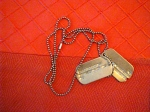 Balch's dog tags from World War II.