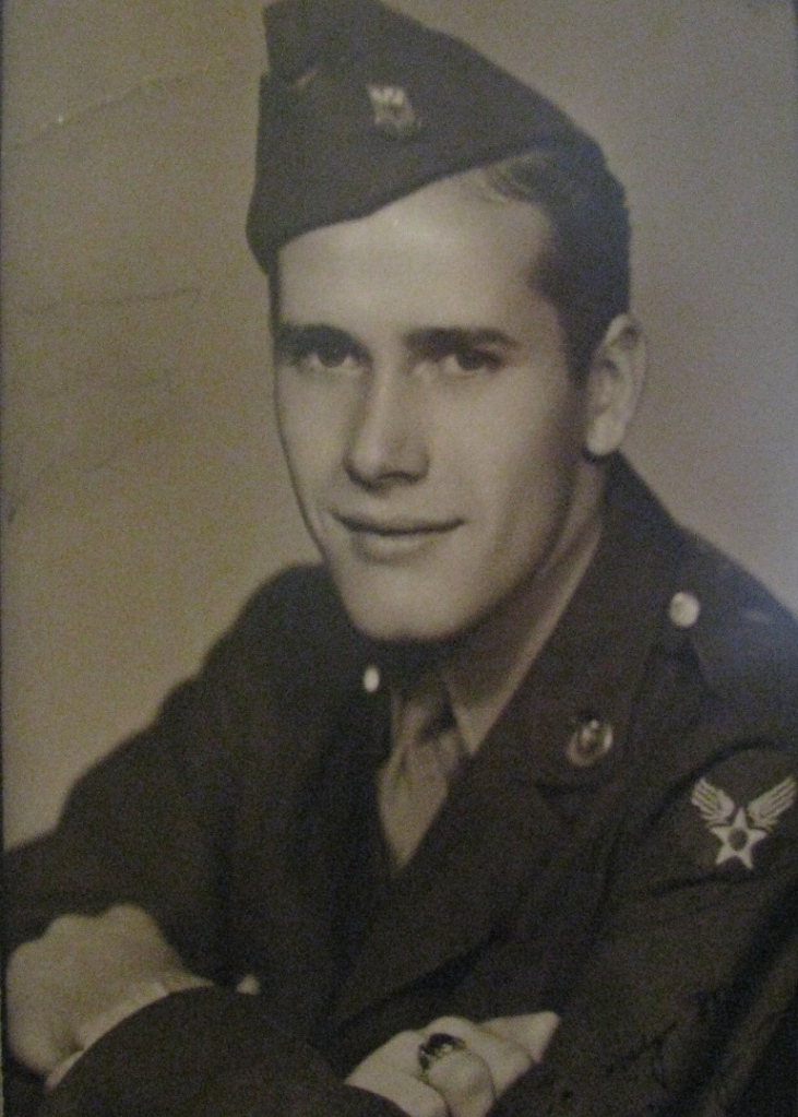 He is pictured in his dress uniform near the end of the Second World War when he was working as a radar repairman for a B-29 bomber squadron based in Shreveport, La. Photo provided