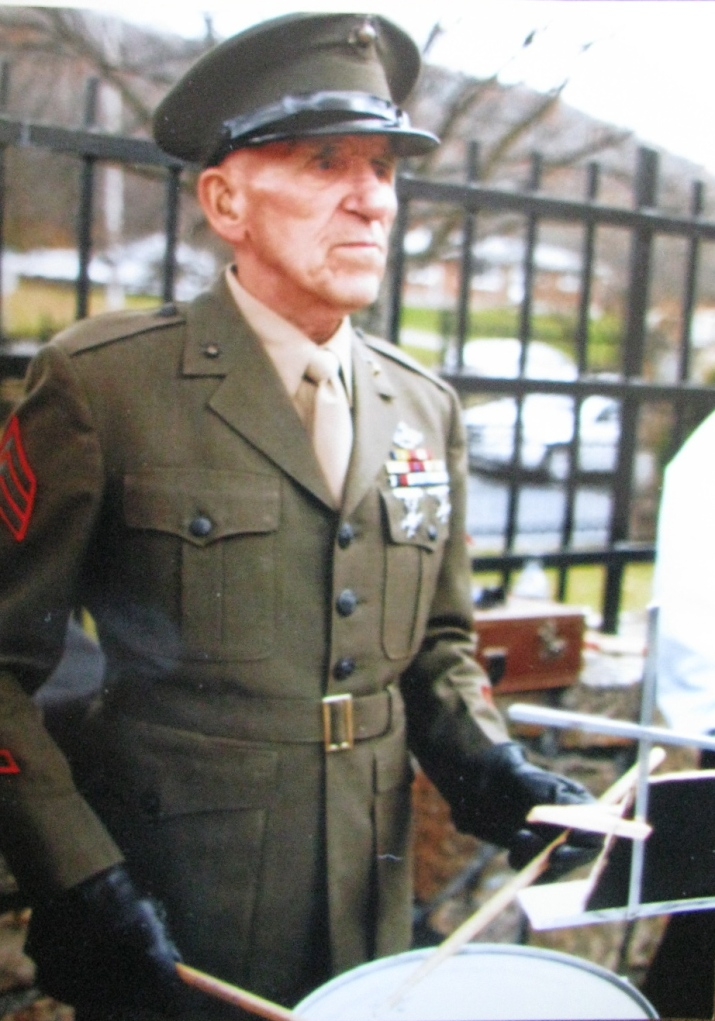 Ditto in his Class A dress uniform in recent years. He was a drummer in a burial service at Rocky Gap Veterans Cemetery near Berkeley Springs, W. Va. Photo provided
