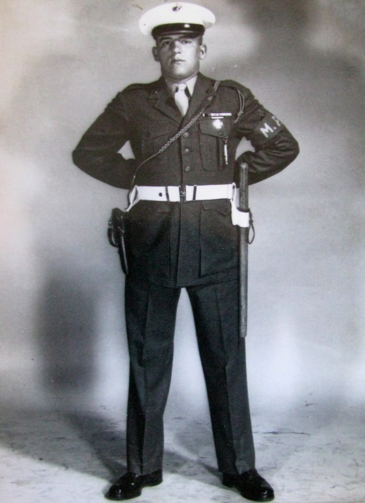 Bill Ditto in his Military Police outfit when he served in the Marine Corps during the Korean War. Photo provided
