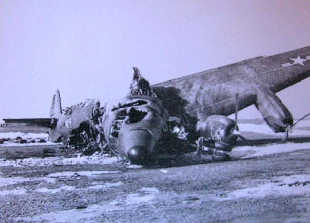 This is all that was left of the Super Constellation Spence was flying in as part of Early Warning Squadron 13 based at Argentia, Newfoundland. All but one of the 28 crew-members aboard survived. Photo provided