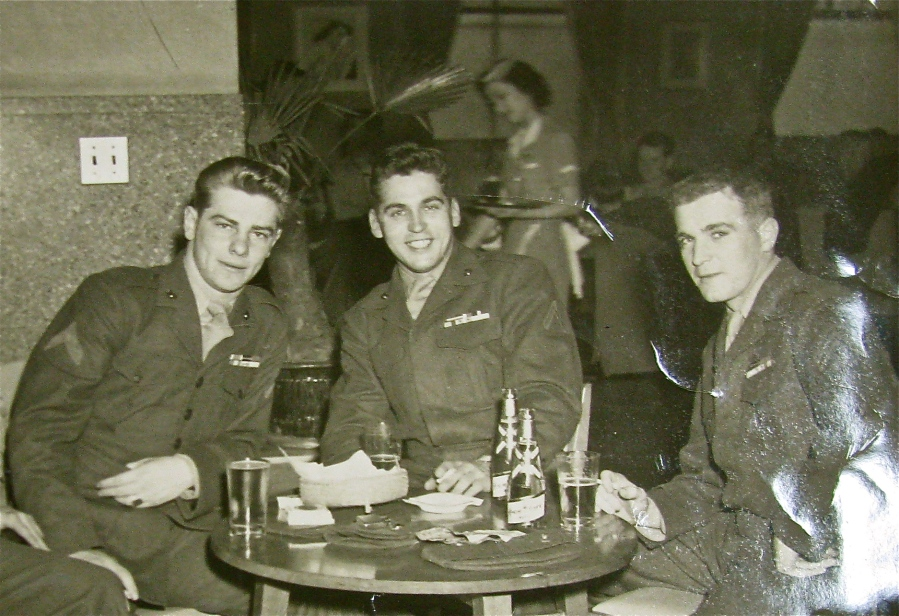 Kocher (left) and two of his buddies: Bob Cormier and Tom O'Neal are on an R & R trip to Japan during the Korean War. Photo provided