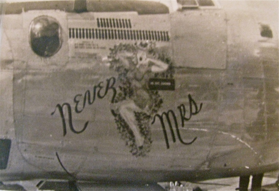 """Never Mrs."" was a shapely lass who adored the nose of Williams' ""Liberator"" four-engine bomber during the Second World War. Photo provided"