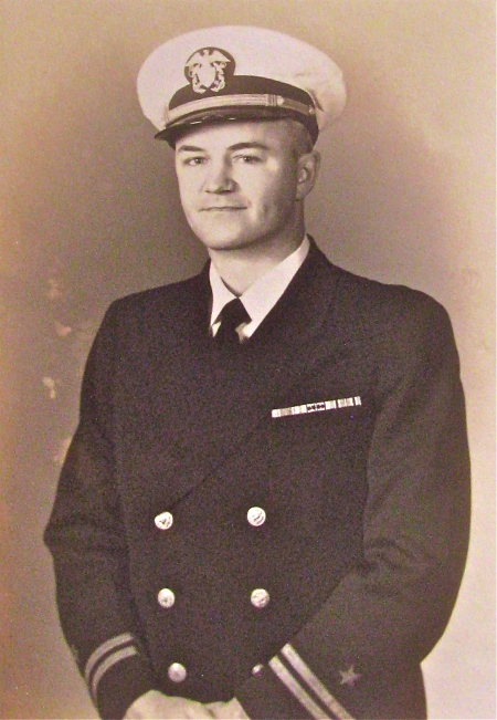 Lt. Earl Swillum is pictured in his Navy dress uniform during World War II. Photo provided