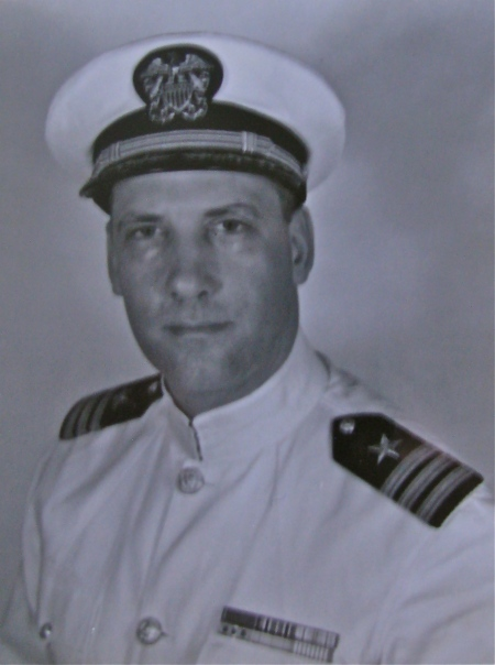 Cmdr. Philip Merrill is pictured in his summer dress uniform. He served in the U.S. Navy and the Reserves from 1943 until 1976. Photo provided