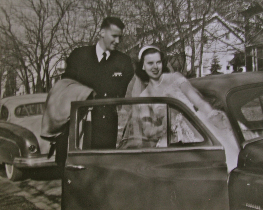It was Feb.17, 1951 and Lt. j.g. Merrill and Martha, his wife, had just gotten hitched. Photo provided