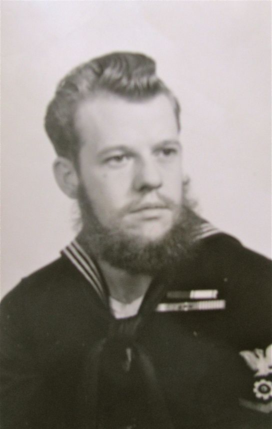 When this picture was taken, Johnson was a petty officer 3rd class. He was serving aboard the LST--Snohoish County--that went back to Japan before he was sent back to San Francisco and discharged in 1956. Photo provided