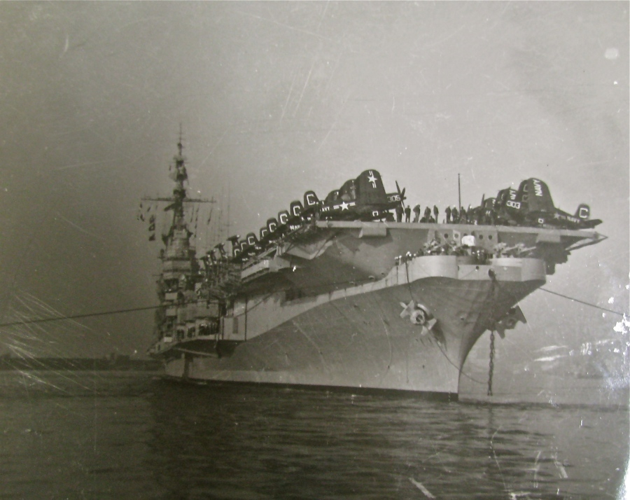 The USS Midway was a Midway Class World War II vintage air craft carrier. At 972 feet in length with 5,500 sailors aboard the flattop was the largest ship in the world until 1955. Photo provided