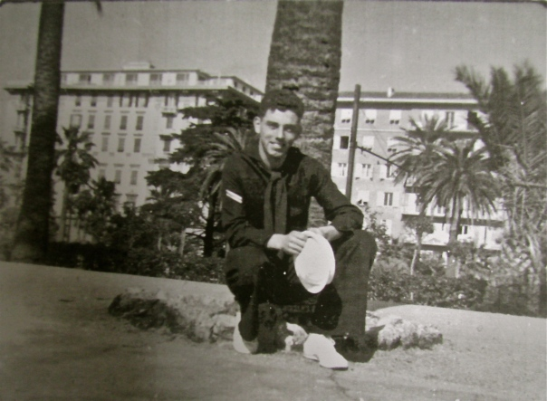 Seaman Bud Lounsbury was exploring the French Riviera, one of the 27 Mediterranean ports he visited while serving in the Navy during the Korean War. He was part of the four-man crew that operated the admiral's barge. Photo provided