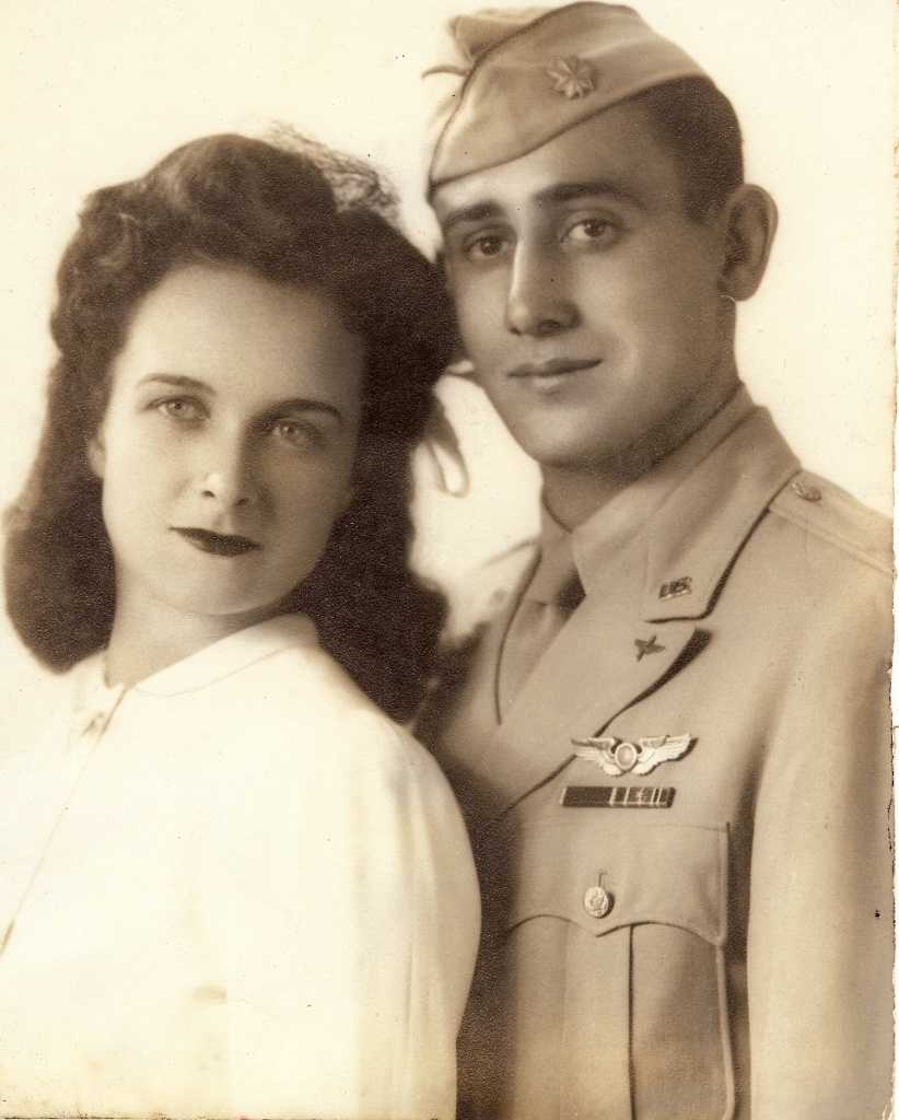 Like thousands of other young couples, Lulubelle Gaehner and Lt. Bruno Virgili were married weeks before he flew off during World War II. He didn't see his new bride for three long years, until war's end. Photo provided