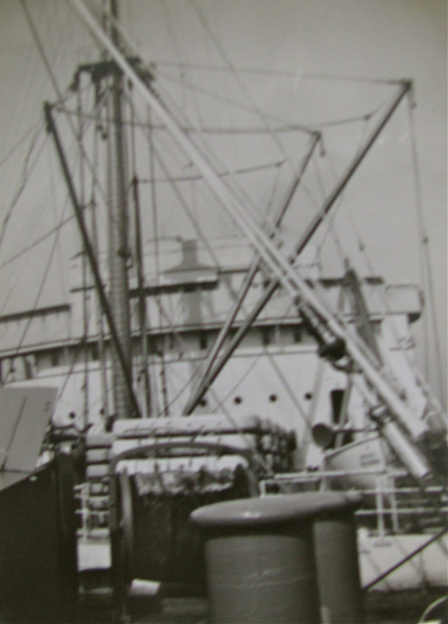 This is the USAT George Washington's main deck. The World War I German liner was use as a troop transport by the U.S. during the Second World War. Photo provided